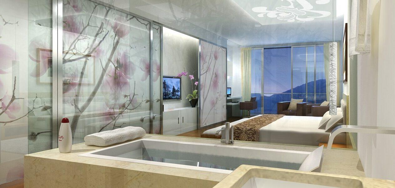 3D Architektur Visualisierung Hotelzimmer