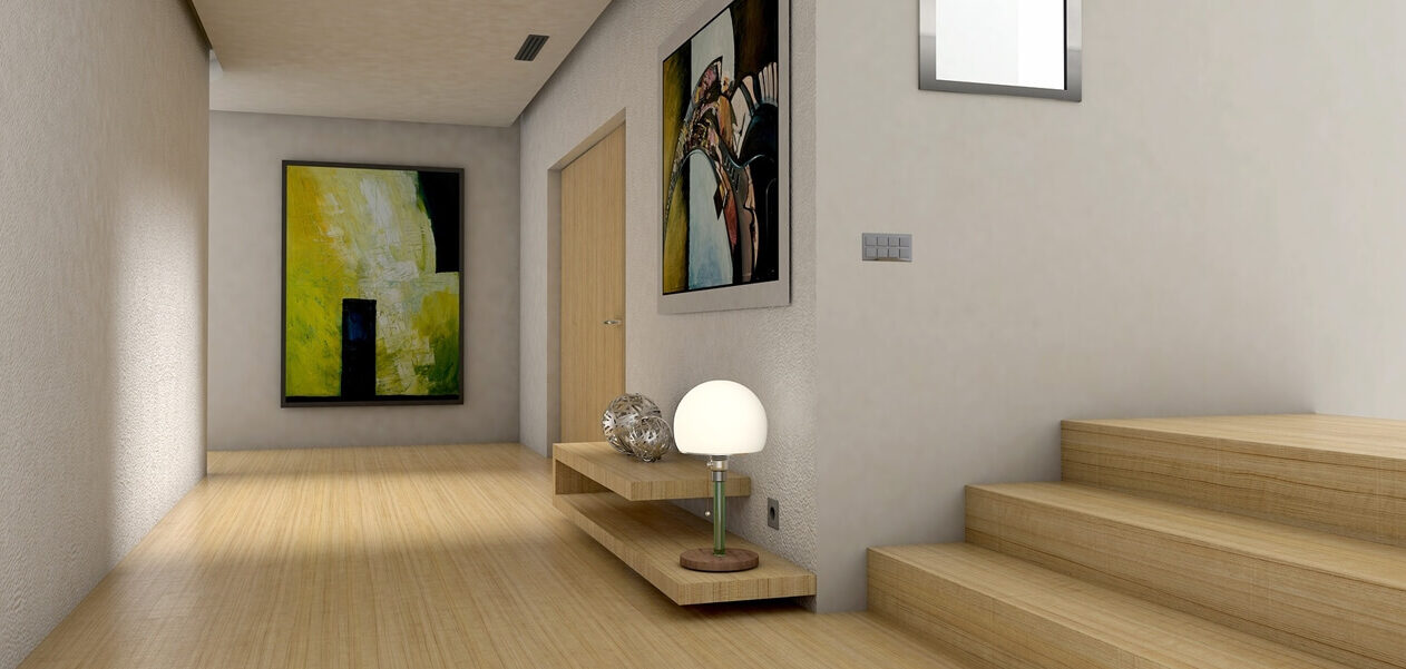 3D Architekturvisualisierung Flur