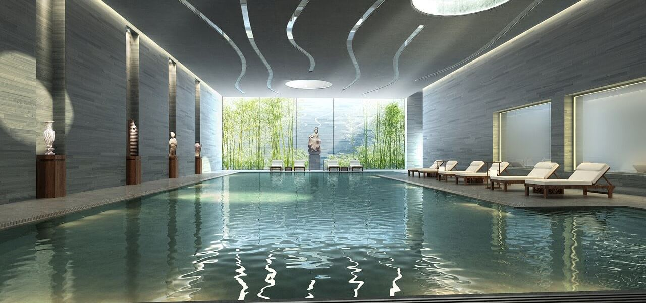 3D Visualisierung Schwimmbad