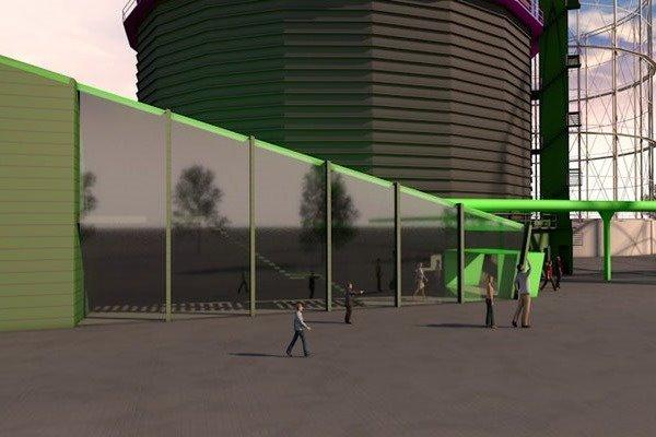 3D Visualisierung München | Gaswerk Anbau mit Glasfassade